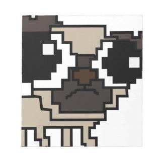 stupid pixel pug notepad