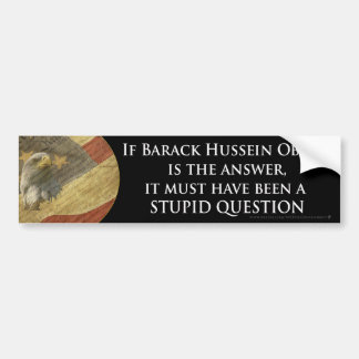Stupid Question Bumper Sticker