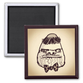 stupid troll face with bow tie funny cartoon square magnet