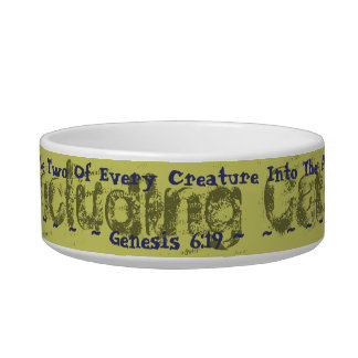 Sturdy Inspirational Cat dish, cats in the ark! Pet Bowl