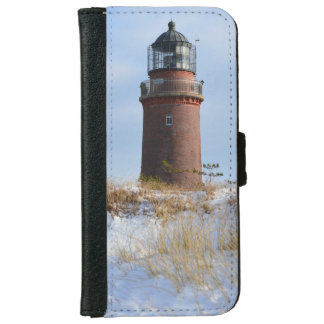 Sturdy Lighthouse on a Rocky Coast in Winter iPhone 6 Wallet Case