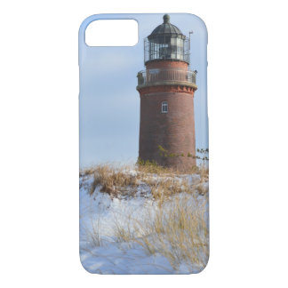 Sturdy Lighthouse on a Rocky Coast in Winter iPhone 7 Case