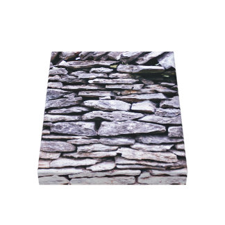sturdy stacked stones fence gallery wrap canvas