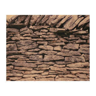 sturdy stacked stones fence queork photo print