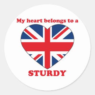 Sturdy Classic Round Sticker