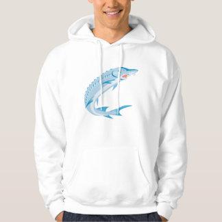 Sturgeon Fish Retro Hoodie