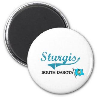 Sturgis South Dakota City Classic 6 Cm Round Magnet