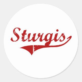 Sturgis South Dakota Classic Design Round Sticker