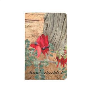 Sturt's Desert Pea pocket journal