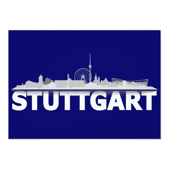 Stuttgart city of skyline - postcard/folding map card