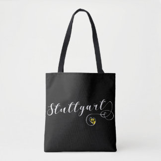 Stuttgart Heart Grocery Bag, Germany Tote Bag