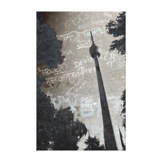 Stuttgart TV tower kind poster Stretched Canvas Print