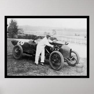 Stutz Racer Woman Mechanic 1916 Poster