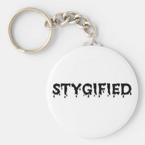 STYGIFIED BLACK Keychain