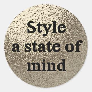 Style a state or mind - sticker round