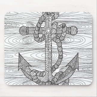 Style Anchor And Rope Mouse Mat