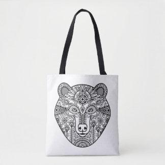 Style Bear Head 2 Tote Bag