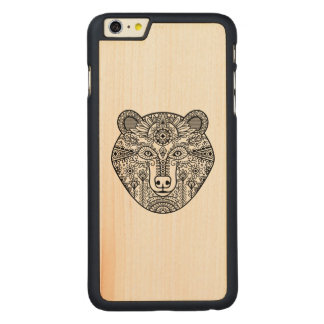 Style Bear Head Carved Maple iPhone 6 Plus Case