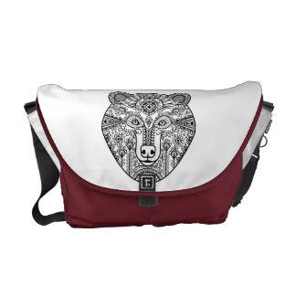 Style Bear Head Courier Bag
