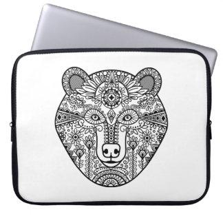 Style Bear Head Laptop Sleeve