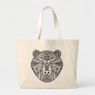 Style Bear Head Large Tote Bag