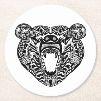 Style Bear Round Paper Coaster