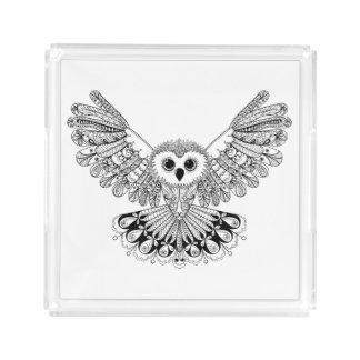 Style Black Owl Acrylic Tray