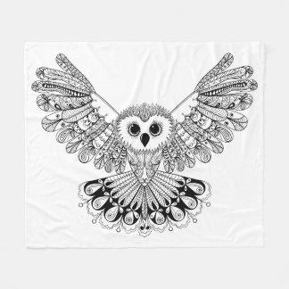 Style Black Owl Fleece Blanket