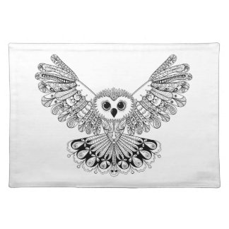 Style Black Owl Placemat
