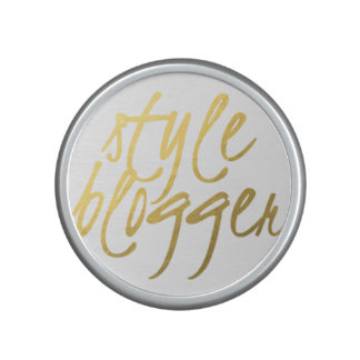 Style Blogger - Gold Script Bumpster Speaker