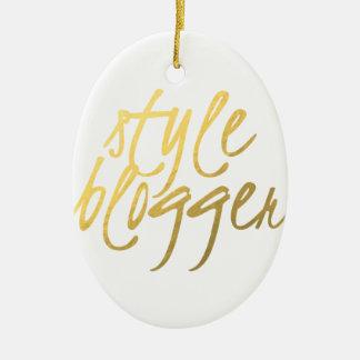 Style Blogger - Gold Script Christmas Ornament
