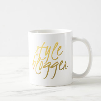 Style Blogger - Gold Script Coffee Mug