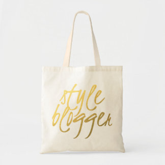 Style Blogger - Gold Script Tote Budget Tote Bag