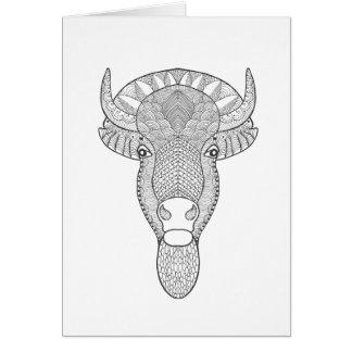 Style Bull Head Card