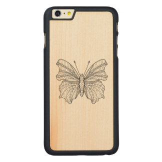 Style Butterfly 3 Carved® Maple iPhone 6 Plus Case