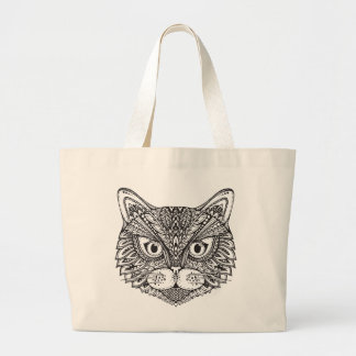 Style Cat Large Tote Bag