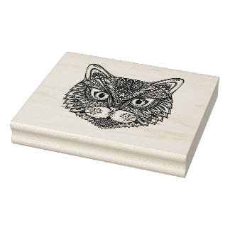 Style Cat Rubber Stamp