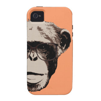 Style Chimp in Glasses iPhone 4 Covers