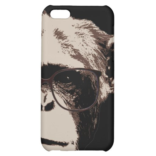 Style Chimp in Glasses iPhone 5C Covers