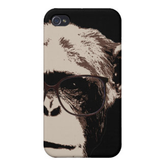 Style Chimp in Glasses iPhone 4 Cases