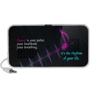 Style Doodle Portable Speaker With Dance Quote