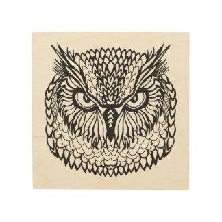 Style Eagle Owl Head 5 Wood Wall Art