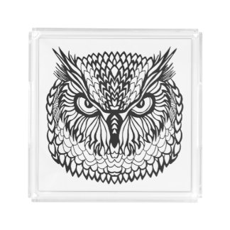 Style Eagle Owl Head Acrylic Tray