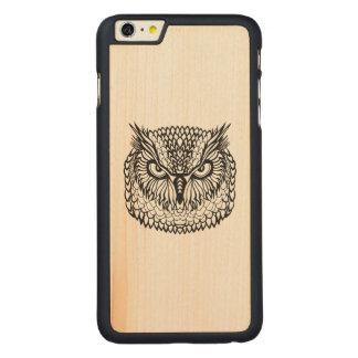 Style Eagle Owl Head Carved® Maple iPhone 6 Plus Case