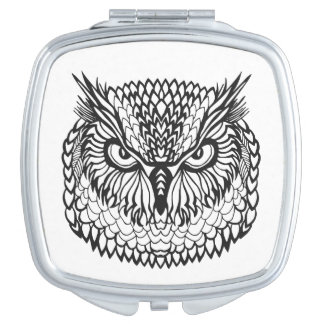 Style Eagle Owl Head Mirror For Makeup