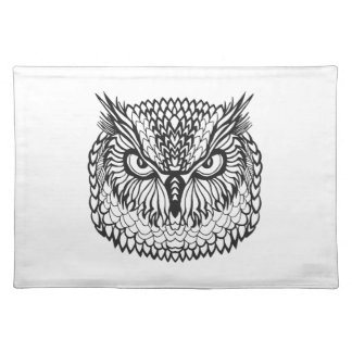 Style Eagle Owl Head Placemat