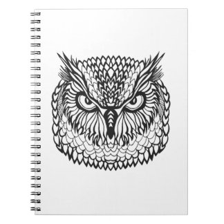 Style Eagle Owl Head Spiral Notebook