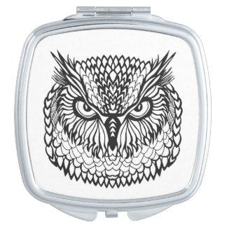Style Eagle Owl Head Vanity Mirror