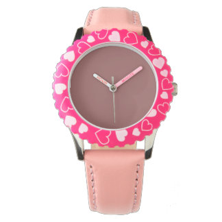 Style: Kid's Adjustable Bezel Stainless Steel Pink Watch