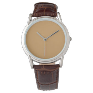 Style: Men's Classic Brown Leather Strap Watch